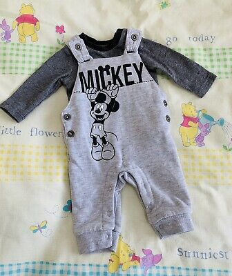 Boys Up To 1 Month Mickey Mouse Disney Baby Dungaree Outfit Clothing, Shoes & Accessories Boys' Clothing (newborn-5t)
