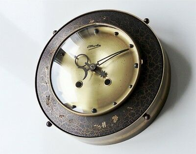 Antique german MARLOE kitchen wall clock retro vintage old brass german