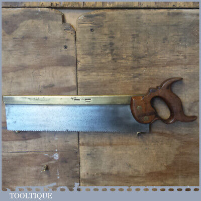 "Rare Antique c.1840 I Hill Late Howel 14"" Brass Back Carcass Saw 11 TPI - Sha..."