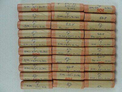 BU Roll of 1982 P Zinc Small Date Cents In Penny Rolls * Sale Is For 1 Roll *