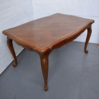 6-8 Seater Antique French Louis style Extending Parquet Dining Table