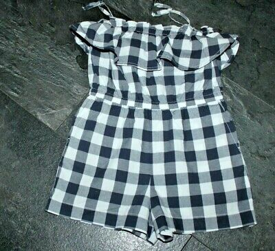 Pretty Baby Gap Girls Navy and White Gingham Checked Playsuit 3 years. Used once