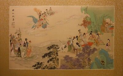 CY165 Queen Mother of the West – detailed Chinese painting on silk 42x25 i35x21
