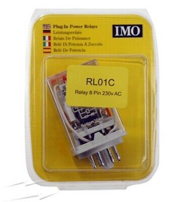 IMO RL01C 8 Pin Relay 230VAC Coil 2 Pole Changeover