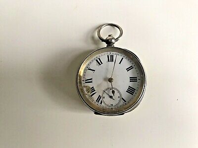 Antique Silver Pocket Watch 935 Swiss movement  Bear Hallmark For Spares
