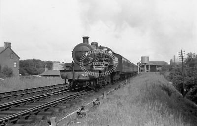 PHOTO UTA Ulster Transport Authority Steam Locomotive 93 in 1955 at Ballymena