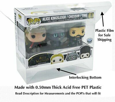 5 Funko Pop! Older Size 3-Pack Vinyl 0.50mm Clear Box Protector Acid Free READ D