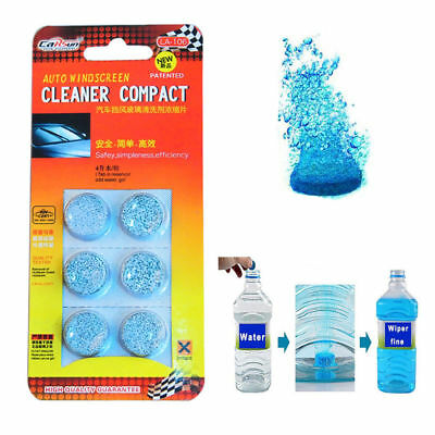 6Pcs/Pack Car Windshield Glass Cleaner Solid Wiper Fine Car Auto Window Cleaning