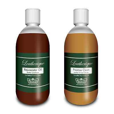 Leatherique Rejuvenator Oil & Prestine Clean for all leather items: 2 x 500ml