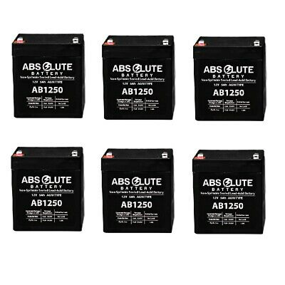 BF350-I UPS Battery BE350 4 Pack New AB1250 12V 5Ah APC Back-UPS ES 350