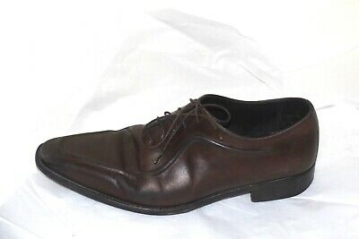 3dbbd11fb0aad Ermenegildo Zegna Couture XXX Brown Leather oxfords Shoes sz 9 EE Made in  Italy