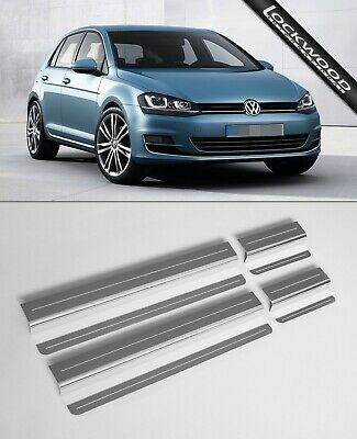VW Golf Mk7 (Released 2013) 4 Door Stainless Steel Sill Protectors / Kick Plates