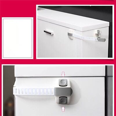 Kids Child Baby Door Safety Lock Pet Proof Fridge Cupboard Cabinet Drawer WS