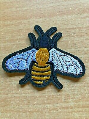 1 Large Bee Embroidery Clothing Iron-On Patch Applique, #B4