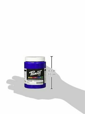 Permaset Aqua Supercover 300ml Fabric Printing Ink - Ultra Blue