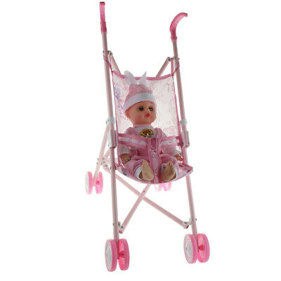 Baby Doll Nursery Playset Travel Passeggino Passeggino e Girls Toy Play Set