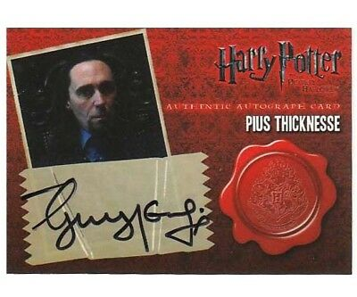 Harry Potter Pius Thicknesse Guy Henry Autograph Card Deathly Hallows Pt. 1