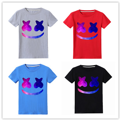 Kids' Clothes, Shoes & Accs. Kids Marshmello Dj Music T-shirt Game Gaming Edm Dance Festival Tee Boys Girls T-shirts, Tops & Shirts