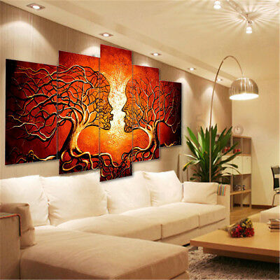 Modern Abstract Tree Love Art Canvas Prints Painting Picture Home Wall Decor 1
