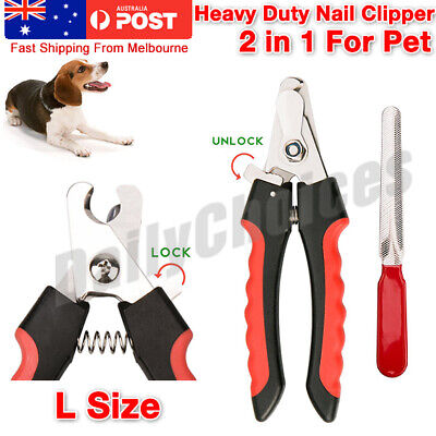 Pet Dog Cat Nail Clipper Claw Trimmer Tool Grooming Pliers Grinder Scissor Kit