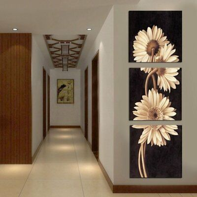 3Pcs Chrysanthemum Art Oil Canvas Painting Print Wall Pictures Home Decor