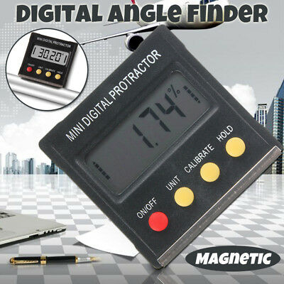 Digital Angle Finder Protractor Inclinometer Spirit Level 4×90° LCD Display