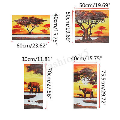 5Pcs Unframed Animal Modern Wall Oil Painting Picture Canvas Print Home Decor 1