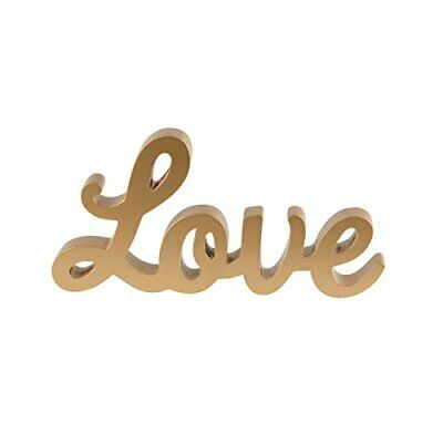 Gold Love Letters Wedding Gift Wooden Letter Sign Decoration Table Top Mr  Mrs