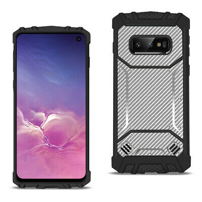 Reiko SAMSUNG GALAXY S10 Lite Carbon Fiber Hard-shell Case In Gray