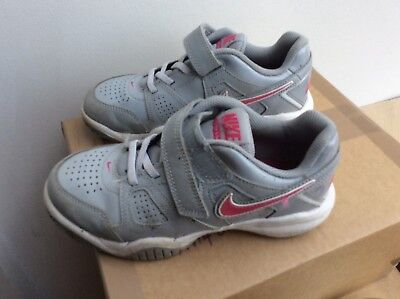 Nike City Court Grey Pink UK 13 trainers Girls
