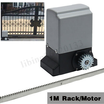 Pro 370W Electric Sliding Gate Opener Automatic Motor Remote Control Or 1M Rack