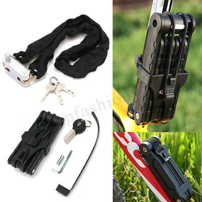 4 Digit Bicycle Bike Anti-Theft Scooter Cycling Security Folding & Chain Lock 1