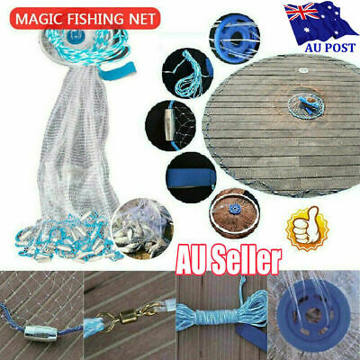 Magic Fishing Net Finefish Aluminum ring AUS catch fish network 240cm/300cm GG