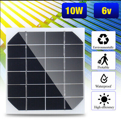 5x 10W 6V Mini Solar Panel Cell Power Module Battery Toys Charger Light DIY New