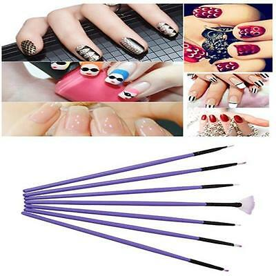 DIY Nail Art Painting Drawing Design Polish Brushes Dotting Pen Tool Set Kit WS