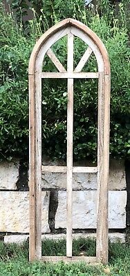Gothic Church Window Frame, Farmhouse Arched Wood Frame, Cathedral Window Screen