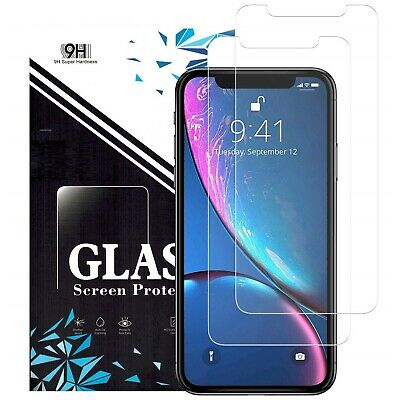 Apple iPhone X XS Max XR 8 7 6 6S Plus SE 5S 5 Tempered Glass Screen Protector