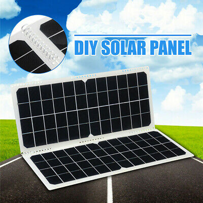 DIY Foldable Solar Panel Camping Cycling Traveling Phone 10W Monocrystalline New