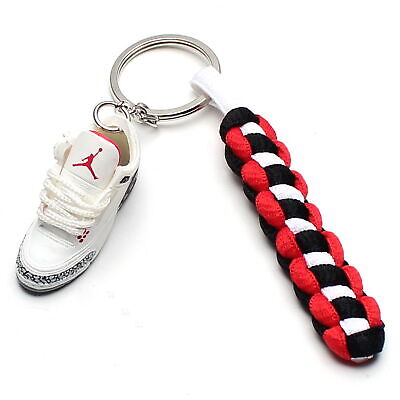 huge selection of cf865 52096 3D Mini Sneaker Shoes Keychain Retro 88 With Strings for Air Jordan 3