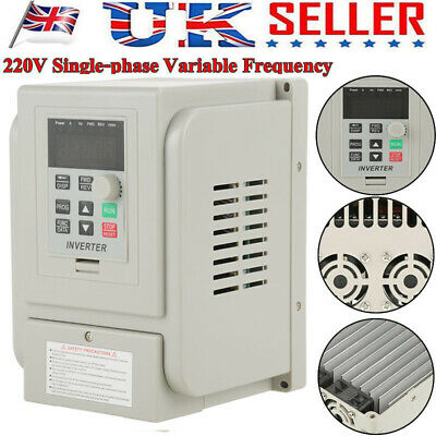 White 2.2KW 220V  Single To 3 Phase Variable Frequency Drive Inverter CNC VFD UK