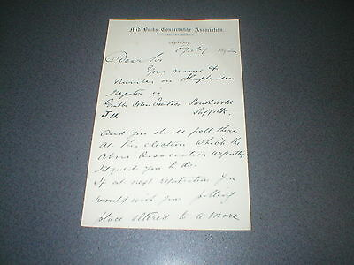 1892 Aylesbury, Mid Bucks Conservative Association, 2 page Signed Letter