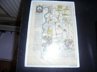 Antique Map of London, Surrey and Middlesex, including River Thames