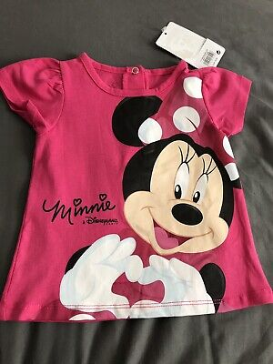 Minnie Mouse Cream T-Shirt Size 12months New Rrp:12.99 Euros