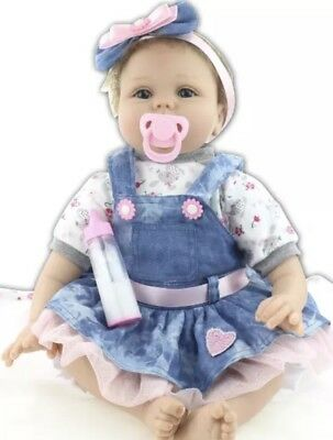 22'' Realistic Reborn Lovely Girl Baby Dolls Soft Silicone Vinyl Lifelike Doll