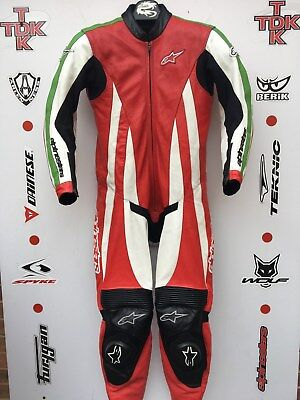 Alpinestars Monza One Piece Race suit with hump uk 42 euro 52