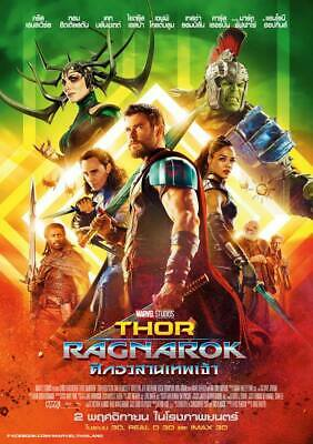 Thor Ragnarok movie POSTER Marvel Avengers Endgame HULK Chris Hemsworth
