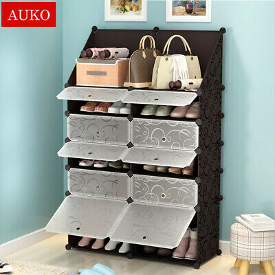 5 Colors Cube DIY Shoe Cabinet Rack Storage Portable Stackable Organiser Stand