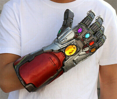 New Avengers: Endgame Iron Man Infinity Gauntlet Cosplay Prop Wearable LED Glove