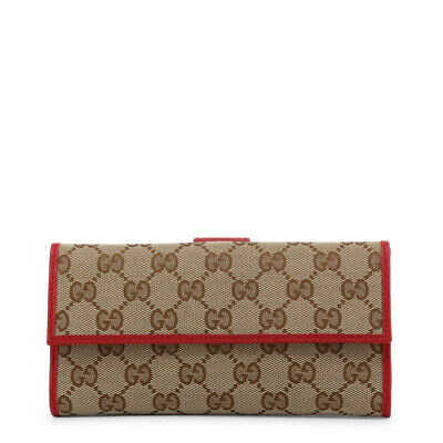 f40ac69b1b0 GUCCI Women s Authentic NEW Beige GG and Red Leather Trim Wallet