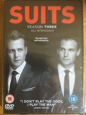 SUITS Season Three 3 DVD Box Set (Region 2) NEW AND SEALED Gabriel Macht